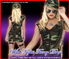 FANCY DRESS COSTUME # SEXY FEVER COMBAT GIRL ARMY SM